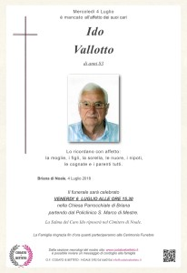 epigrafe crocetta VALLOTTO IDO