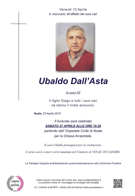 Epigrafe crocetta grigia DALL'ASTA UBALDO