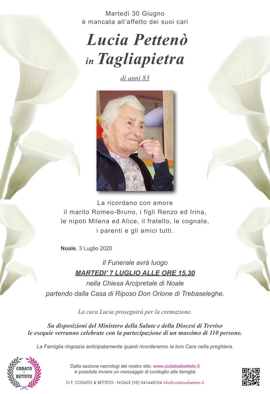 epigrafe calle PETTENO' LUCIA