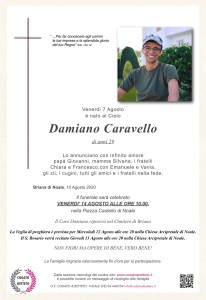 Copia di epigrafe crocetta CARAVELLO DAMIANO