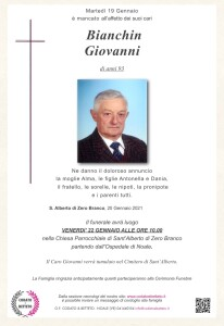 Copia di epigrafe crocetta Bianchin Giovanni