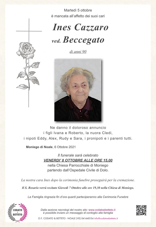 epigrafe crocetta rosa CAZZARO INES